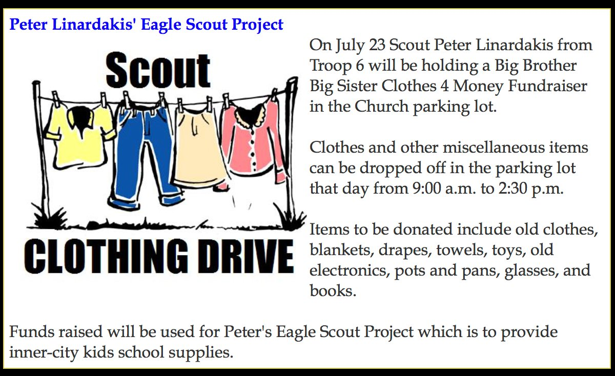 Scout Clothing Drive