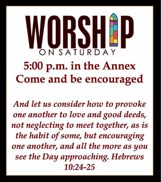 Worship on Saturday